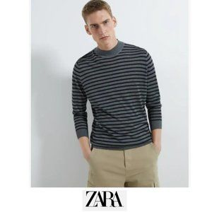 Zara Man | Striped mock neck sweater